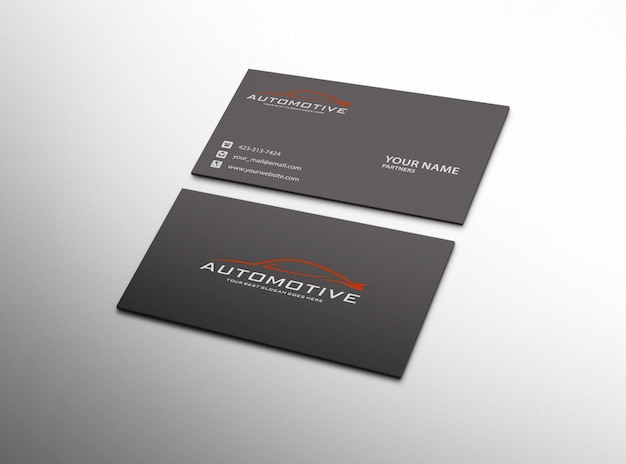 Realistic and modern business card mockup