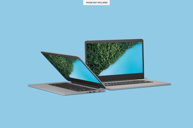 Realistic modern laptop design