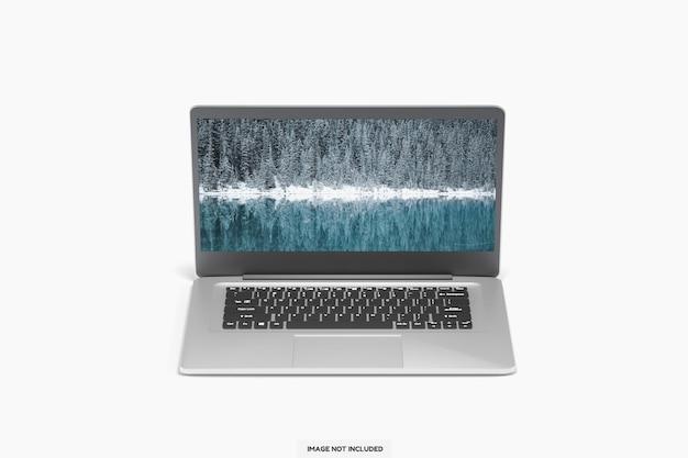 Realistic modern laptop mockup