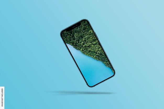 現実的な現代の電話のモックアップ