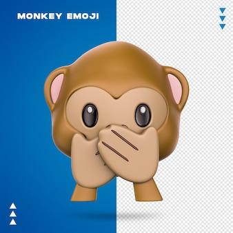 Realistic monkey emoji