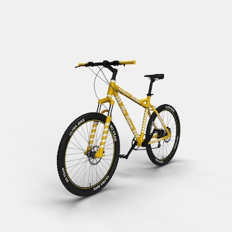 Realistic mountain bike bmx bicycle 3d mockup front view