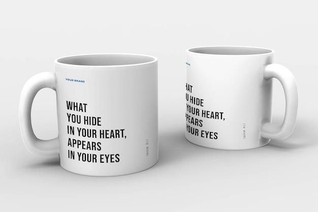 現実的なマグカップデザインモックアップデザイン分離