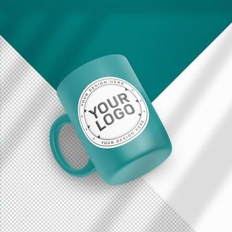 リアルなマグカップ モックアップ デザイン