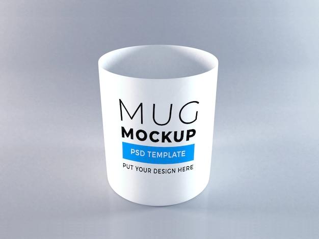 Realistic mug mockup template