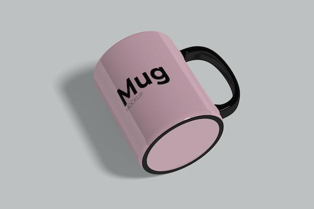 リアルなマグカップのモックアップ