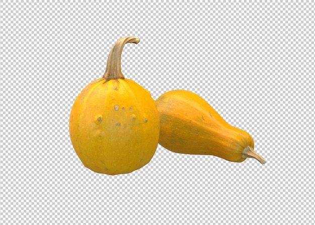 Реалистичная оранжевая тыква на белом фоне