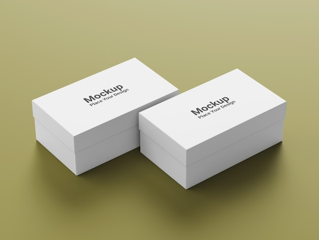 Реалистичный макет упаковочной коробки