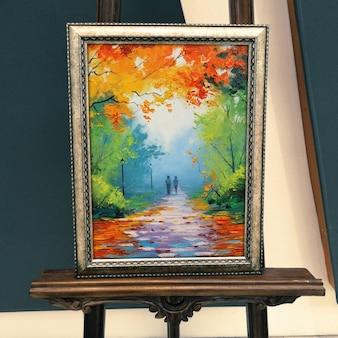 現実的な絵画のプレゼンテーション
