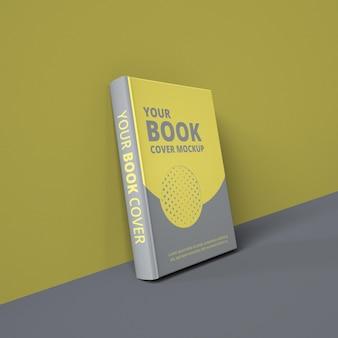 Realistic paper book cover mockup