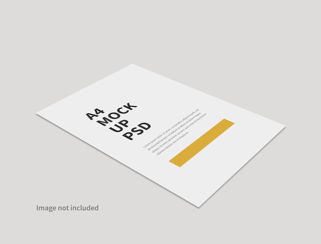 Realistic paper minimal mockup isolated