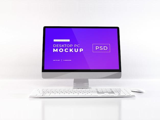 現実的なパソコンのモックアップ