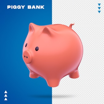 Realistic piggy bank