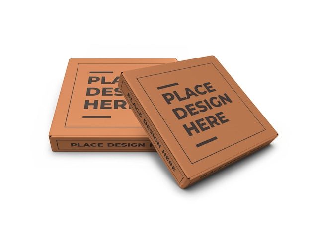 현실적인 피자 상자 이랑 템플릿 절연