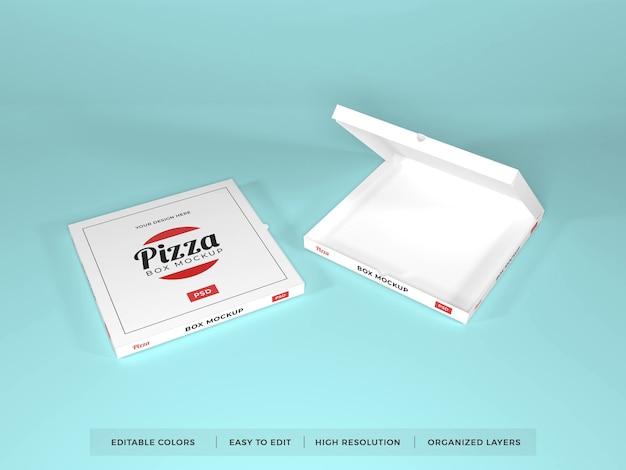 Realistic pizza box mockup