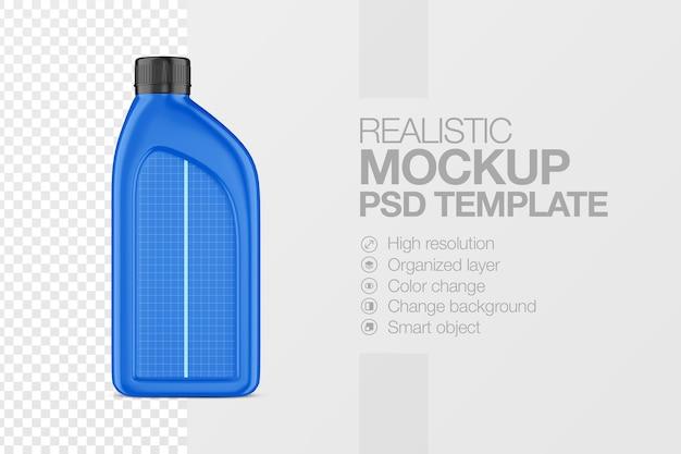 リアルなプラスチックジェリカンモックアップテンプレート正面図