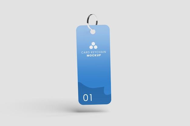 リアルなプラスチックキーホルダーのモックアップ