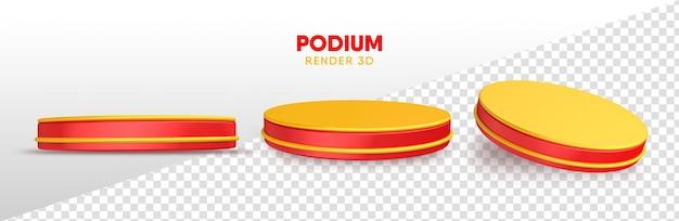 Realistic podium in 3d rendering