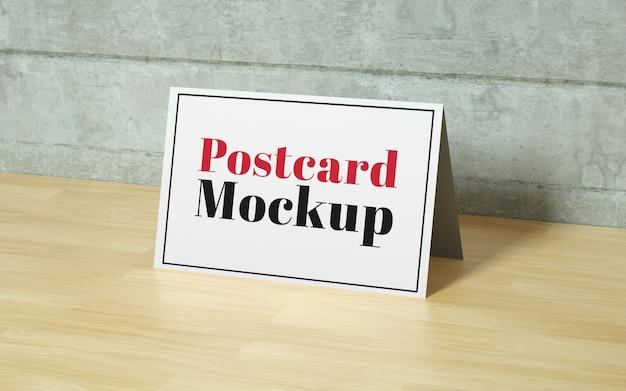 Realistic postcard mockup
