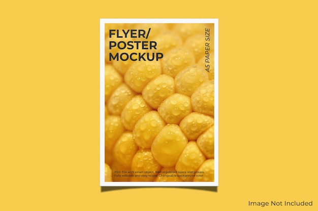 Realistic poster or flyer brochure mockup