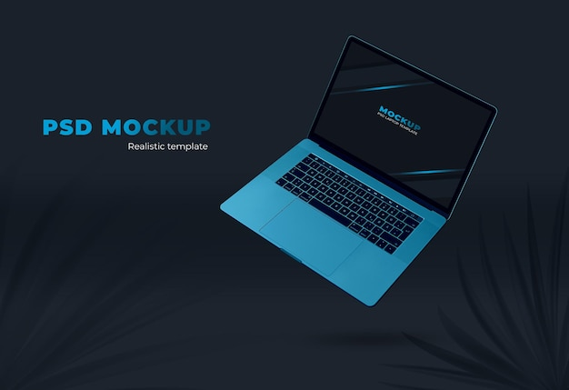 Realistic premium macbook pro for web template