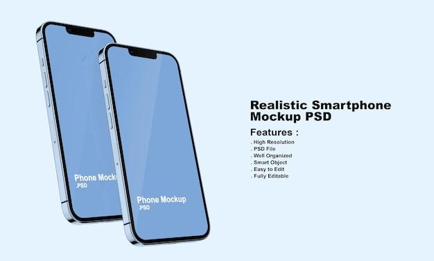 Реалистичный макет смартфона премиум-класса