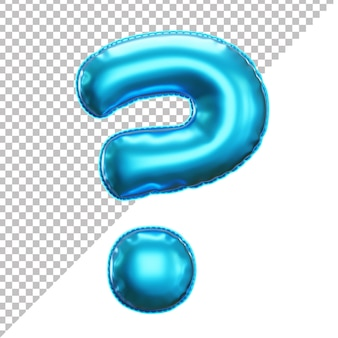 Realistic question mark helium foil balloon