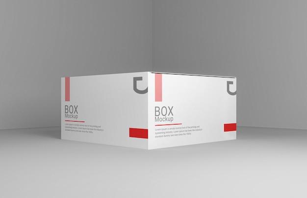 色を変えられるリアルな長方形のボックスモックアップデザイン