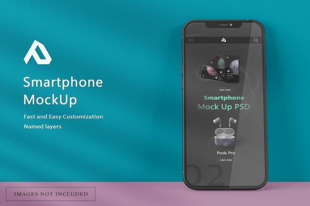 スマートフォンのモックアップのリアルなレンダリング