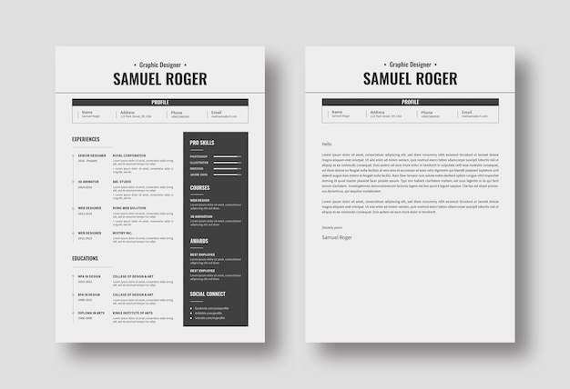 Realistic resume design