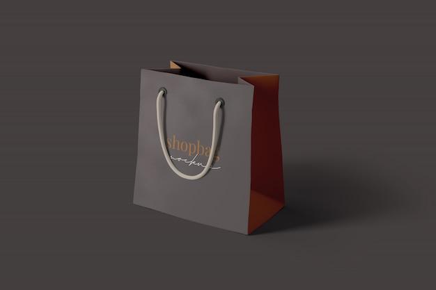 Realistic shopping bag mockup