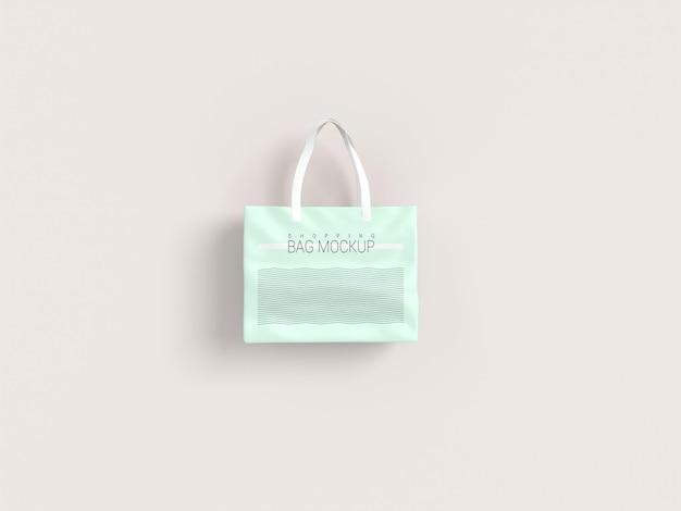 リアルなショッピングバッグのモックアップ