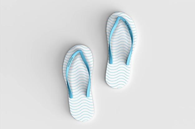 Realistic slippers design mockup design