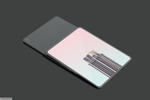 Реалистичный макет смарт-планшета с темным светом