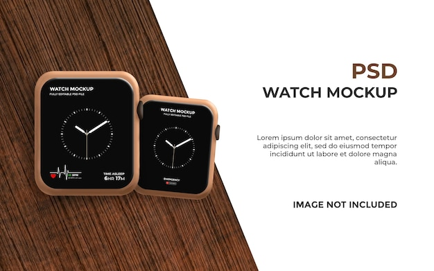 Realistic smart watch mockup