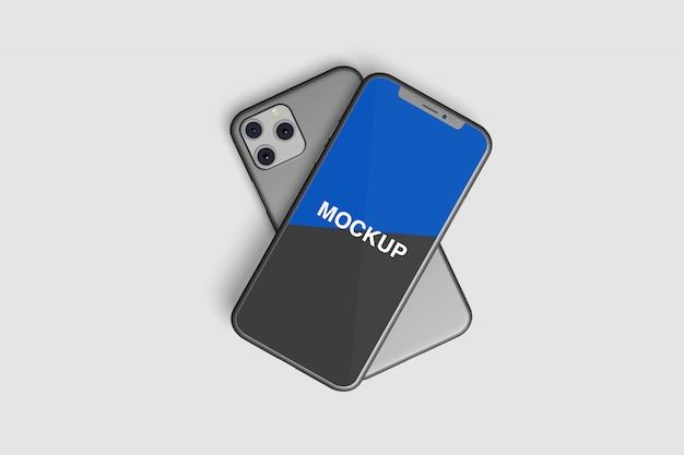 Realistic smartphone front mockup