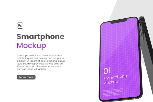 Realistic smartphone mockup for app promotion
