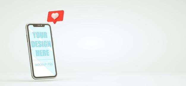 3dレンダリングでリアルなスマートフォンのモックアップデザイン