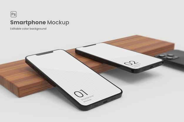 アプリのプロモーションのための現実的なスマートフォンのモックアップ
