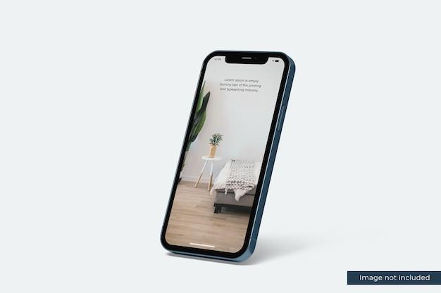 デザインプレゼンテーションのためのリアルなスマートフォンのモックアップ