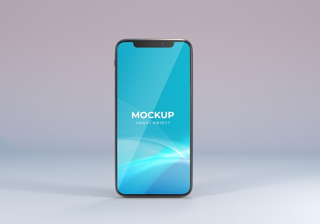 Realistic smartphone mockup front view