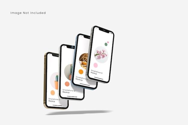 Realistic smartphone mockup isolated