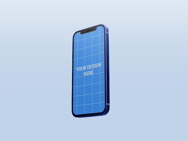 分離された現実的なスマートフォンのモックアップ