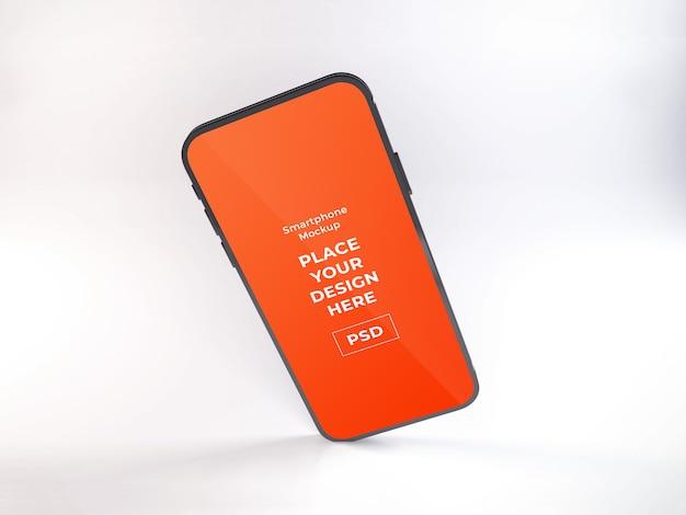 現実的なスマートフォンのモックアップtempate