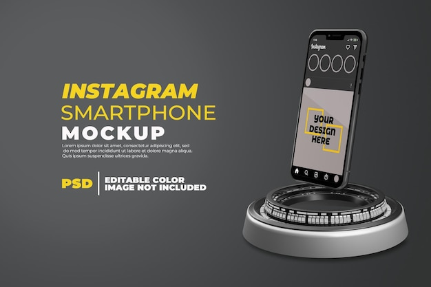 고립 된 instagram과 현실적인 스마트 폰 모형