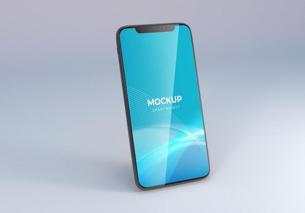 現実的なスマートフォンのモックアップ