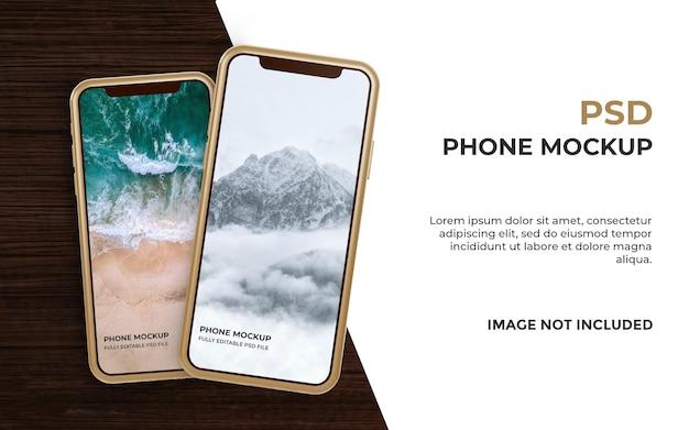 Реалистичный макет смартфона Premium Psd