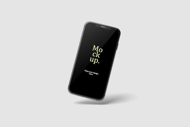 現実的なスマートフォン画面のモックアップ