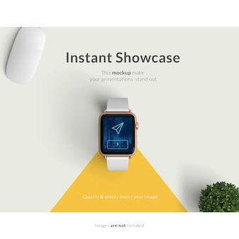 Realistic smartwatch mock up