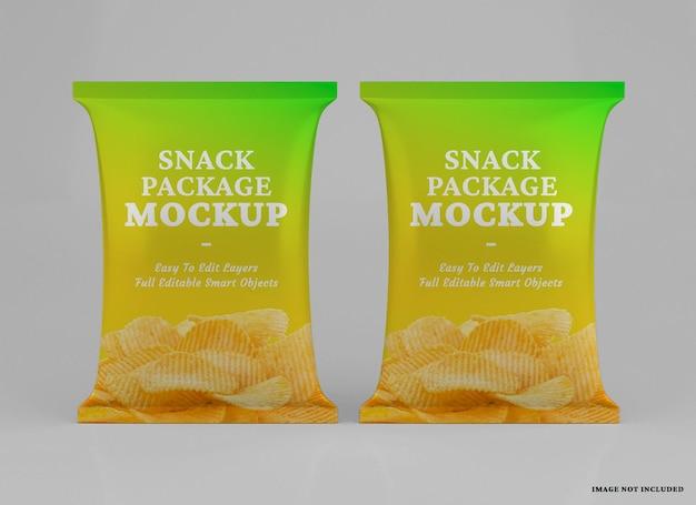 Реалистичный дизайн макета упаковки закусок изолирован